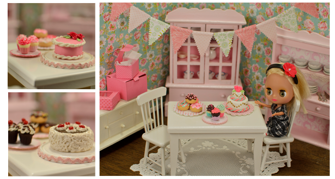 miniature dessert cake sets