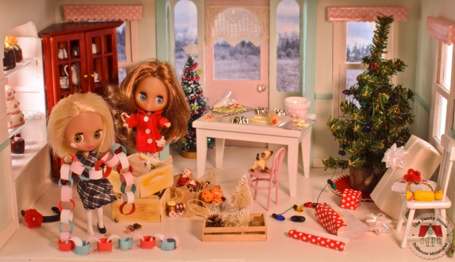 Decorating the Dollhouse for Christmas
