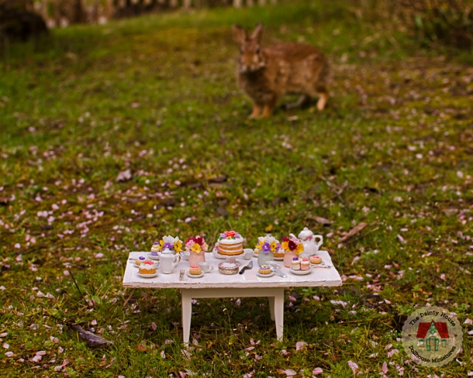 Miniature Spring Tea Party: Unexpected Guest